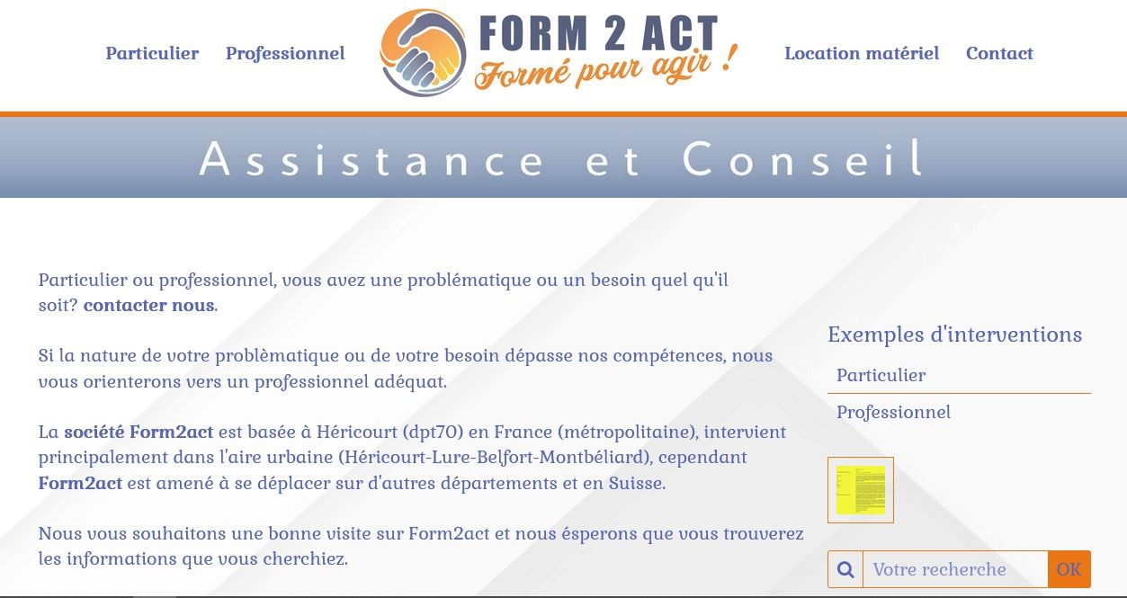 Acceuil form2act